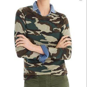 J Crew Camouflage Tippi Sweater